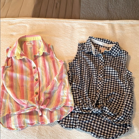 Girls size 7/8 Cat & Jack sleeveless shirts